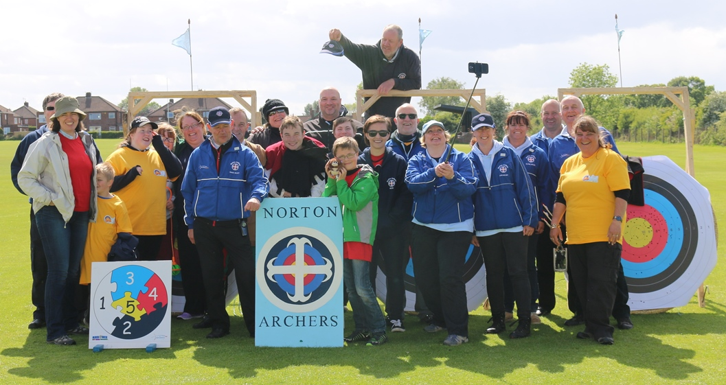 Norton Archers volunteers at our Archery Big Weekend event, May 2015