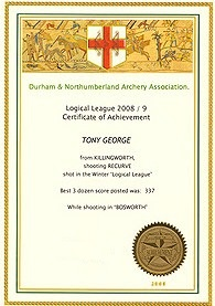 Logical League certificate